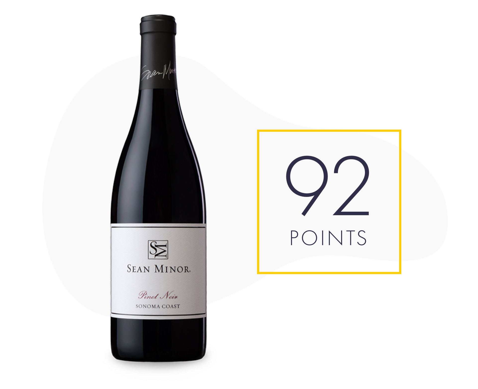 A bottle of the 2019 Sean Minor Pinot Noir with